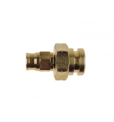Convex female bulkhead pass, clip fastening, Goodridge