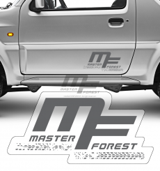 Sticker MF 25 x 50 gris
