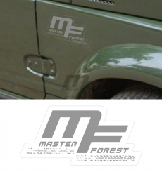 Sticker MF 7.5 x 15 gris