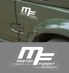 Sticker MF 7.5 x 15 blanc