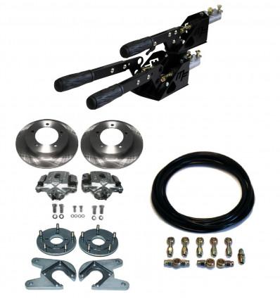 Kit complet frein séparé 2+1 avec freins à disques arrière + flexibles Samurai Espagnol