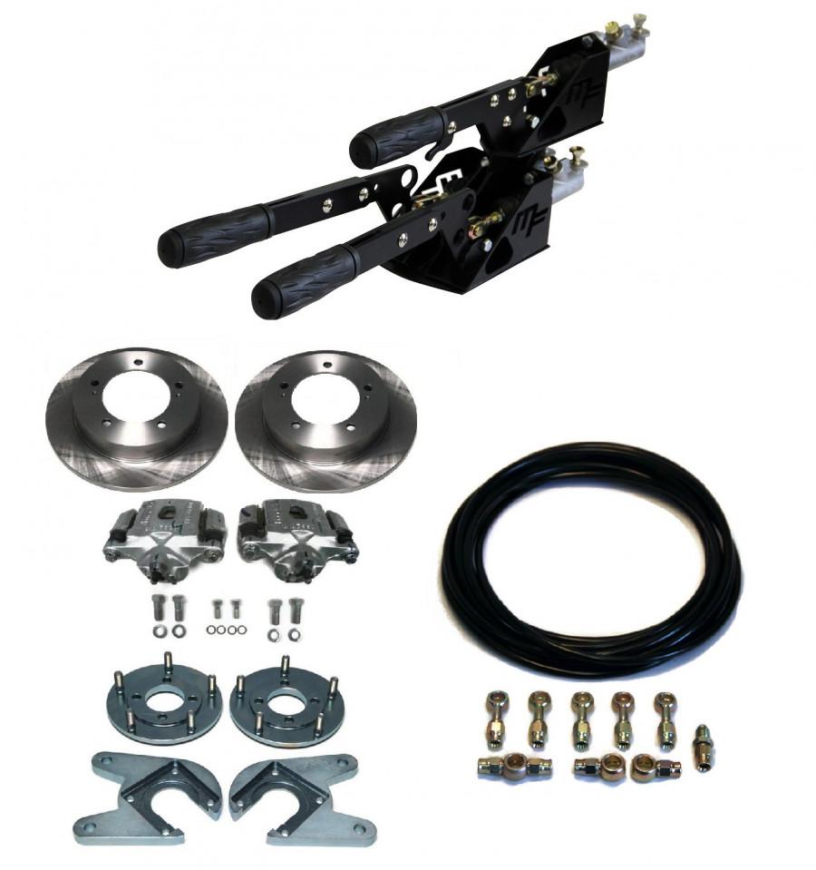 kit complet frein s par 2 1 avec freins disques arri re flexibles samurai espagnol. Black Bedroom Furniture Sets. Home Design Ideas