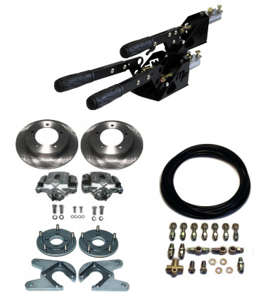 Complete kit: 2+1 separate brakes with rear discs brakes + flexibles, Suzuki Santana samurai, japanese build