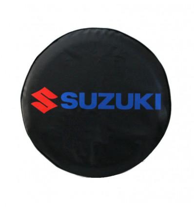 Spare tire cover, black, blue, red 4WD, Suzuki Santana
