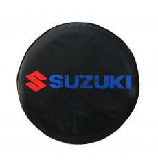 Cache roue de secours noir bleu rouge 4x4 Suzuki Santana