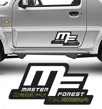 MF ステッカー、25 x 50 、カラフル