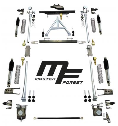 MFコイルサスペンションリフトセット、柔軟な+15cm、スズキ・サンタナ・サムライ四輪駆動
