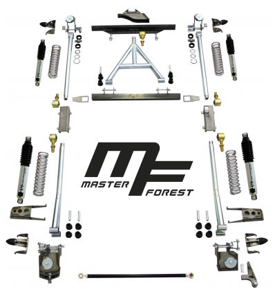 Kit suspension MF à ressort helicoidal +15 cm dur 4x4 Suzuki Santana Samurai.