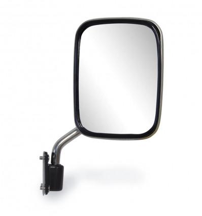 Passenger side wing mirror, stainless steel, Suzuki Santana 410 and 413