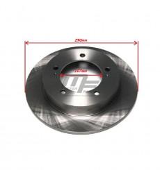 2 disques de frein avant non ventilés 107mm Suzuki Santana Vitara