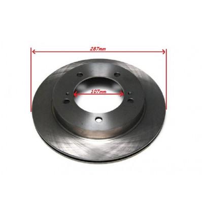 2 disques de frein avant ventilé 107mm Suzuki Santana Vitara