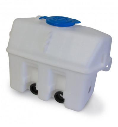 Windscreen washer reservoir tank, 2 outlets, hard body Suzuki Jimny