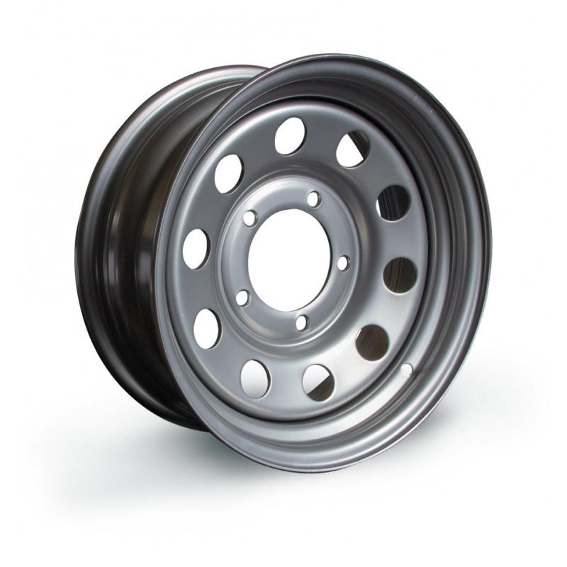 Modular ( モジュラー)車輪リム、6x15''、銀灰色、スズキ・サンタナ