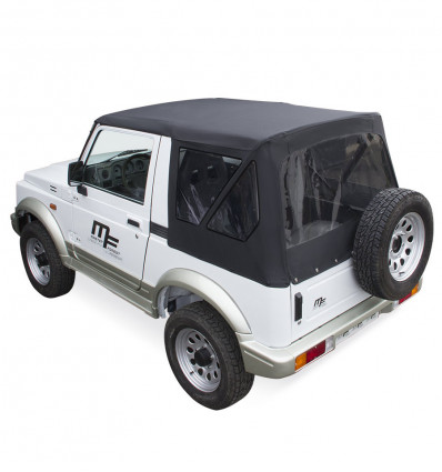 Black soft top for suzuki santana samurai 4WD