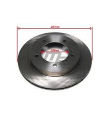 2 disques de frein avant ventilé 108mm Suzuki Jimny