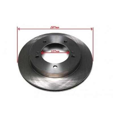 2 front brake discs, ventilated, 107mm, Suzuki Jimny