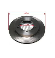 2 disques de frein avant ventilé 107mm Suzuki Jimny