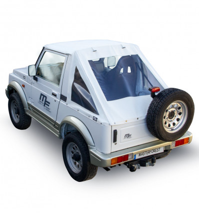 Bâche Fastback blanche Premium MF 4X4 Suzuki Santana Samurai