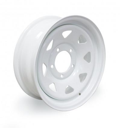 白いTriangular車輪リム、6x16''、スズキ・サンタナ