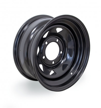 Triangular wheel rim, black, 7x15'', Suzuki Santana 4WD