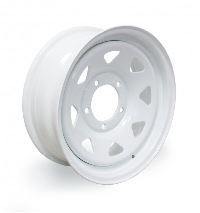 "White triangular wheel rim 6x15"" Suzuki Santana"