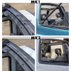Bâche Bikini kaki Premium MK1 MF 4X4 Suzuki Santana Vitara
