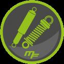 Coil spring suspension